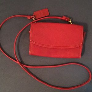 Handbags - Coach red wallet sized bag